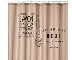 Sealskin Savon de Provence Cortina de Ducha, Poliéster, Marrón, 180x200 cm