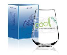 Ritzenhoff Aqua e Vino 3380006 - Copa de vino, cristal, color blanco mate, verde