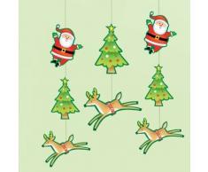 Amscan 2,1 m de cuerda de muñeco de nieve y Papá Noel decoración