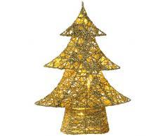 WeRChristmas 73 cm algodón pre-Lit LED de luz Blanca cálida Decorativa para árbol de Navidad, Dorado