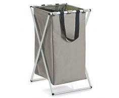 Zeller 13221 - Cesto para colada (poliéster, 39 x 60), color gris claro/oscuro