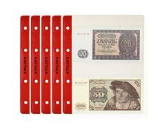 PELLERS Hojas con 2 compartimentos para billetes de banco: 143mm X 80mm. Para álbum tipo M. Paqute de 10.