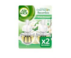 Air Wick Ambientador Eléctrico Recambio Duplo White Bouquet, 2 x 19 ml - Total: 38 ml