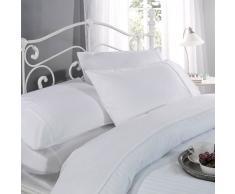 Ritz 12397131 - Funda de edredón conjunto, algodón 300 hilos de rayas de satén, solo, 135cm x 200cm, color blanco