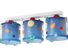 Dalber Planets Lámpara de techo de 3 luces azul 51 x 15 x 20.5 cm