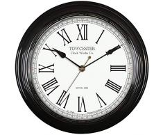 Acctim 26703 Redbourn Reloj de pared, color negro