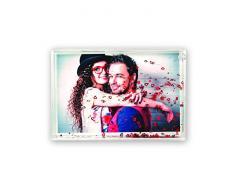 ZEP Marco de Fotos con Corazones, Acrílico, 17x12x3.5 cm