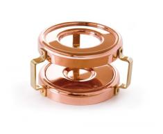 Mauviel Mminis - Calentador de vela para cazo pequeño, color bronce