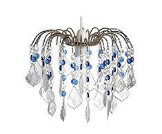 Lighting Web Co - Lámpara de techo colgante (3 capas, cristal), color azul y transparente