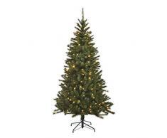 Black Box Trees 383017 - Árbol de Navidad Artificial (con Luces led, 215 cm 117 cm, 240 Luces, 767 Ramas), Color Verde