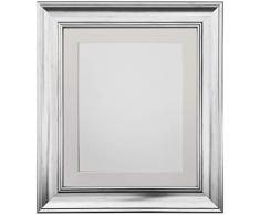 Frames by Post Marco de Fotos Vintage Scandi, Silver with Ivory Mount, 12 x 10 Image Size 10 x 8 Inch