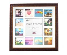 Inov8 16 x 40,64 cm Insta-Frame Marco para Instagram 13/de estampado a cuadros de fotos con paspartú blanco y negro con borde, Ripple marrón