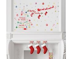 Wallflexi francés Citas de Navidad Pegatina de Pared Decoración Hogar Oficina Decoración