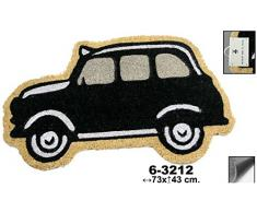 Pide X esa Boca Taxi Felpudo, Fibra de Coco, Goma, Amarillo, 43x73x2 cm