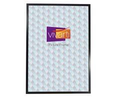Vivarti Marco de fotos negro satinado, tamaño estándar de póster, 61 x 91,5 cm