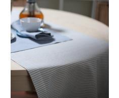 1 pieza. Camino de mesa Jazz de lino y algodón en rayas. Color beige. LinenMe 40 x 200 cm.