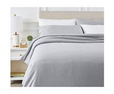 AmazonBasics - Juego de ropa de cama con funda de edredón, de microfibra, 220 x 250 cm, Gris pizarra