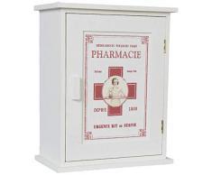 Clayre & Eef 6H0372 Livitat - Armario de Madera para Farmacia