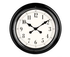 Premier Housewares 2200633 - Reloj de pared, color negro