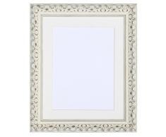 Tailored Frames Marcos a Medida de la Gama Viena. Marco de Fotos y Fotos Vintage ornamentado Chic en Color Blanco con Marco Blanco Antiguo de 25,4 x 20,3 cm para A5