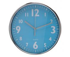 Koopman International BV C37568250 - Reloj de pared (Azul, Verde, Rosa, Rojo, Plata, 210 x 210 x 45 mm)