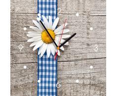 Reloj de pared de cocina - Flor con la cinta