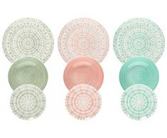 Tognana ME070185598 Gipsy Soft - Vajilla (18 piezas, porcelana)