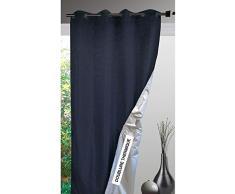 HomeMaison.com HM69851349 - Cortina, 138 x 240 cm, color plateado / negro