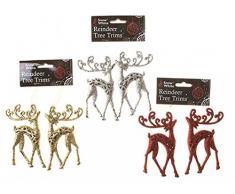 Christmas PMS - Juego de 2 Adornos para árbol de Navidad (12,5 cm, 3 Unidades)