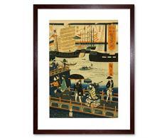 Wee Blue Coo Draw Cityscape London Harbour - Cuadro de Pared con Marco japonés