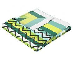 biederlack 150 x 200 cm días soleados Summer Manta de Forro Polar, Fiyi Turquesa, Microfibra, Verde, 50x38x13 cm