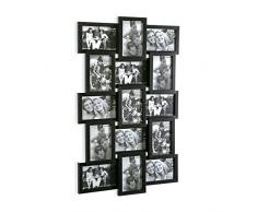 Versa 20810018 Portafotos Multiple 15 Negro, 71,5x4x44cm, Madera, Marco fotos