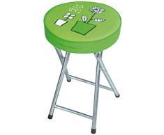 Laroom 12599 - Taburete de baño plegable, color verde
