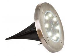 ootb Foco Solar para jardín con 8 LED, 11,5 cm