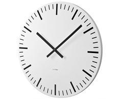 Balvi Station - Reloj de pared, 80 cm, en metal, color blanco