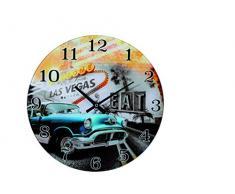 Out of the Blue 79/3222 Cristal de reloj de pared, las vegas I, diámetro aprox. 30 cm, para 1 batería de Mignon (AA)