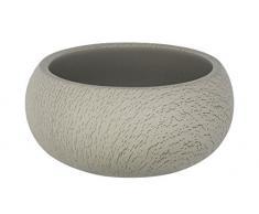 Wenko Universal Estante Joy cosmético Lata,–Bote para algodones, Cemento, Taupe, 14x 14x 6.5cm