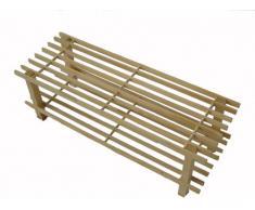 H & L Russel WR1000 - Zapatero de madera (2 estantes, 74 x 29,5 x 26 cm)