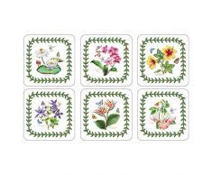 10,5 x 10,5 cm tamaño mediano Pimpernel fults Botanic Garden posavasos, juego de 6, Multi-color