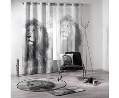 Douceur d Interieur 140 x 260 cm impreso poliéster D/P León cortina anillos, multicolor