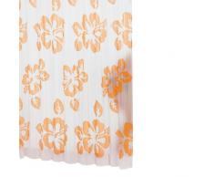 Ridder 323540-350 Flowerpower - Cortina de ducha (180 x 200 cm, incluye enganches), color blanco y naranja
