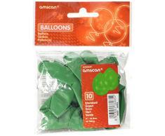 Amscan 22,8 cm 10 globos de látex, estándar verde