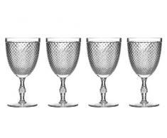 Premier Housewares - Copas de Vino (plástico, 4 Unidades), Transparente