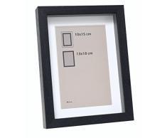 Deknudt Frames Marco de Fotos con Profundidad Madera, Madera, Negro, 40 x 50 cm