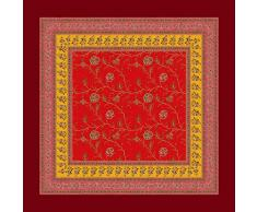 Bassetti MONTEFANO Mantel, algodón, Rojo, 110X110