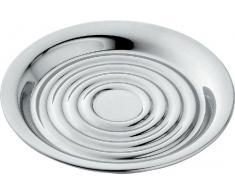Alessi UTA1220/11 - Posavasos de acero (4 unidades), color plateado