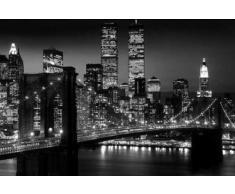 1art1® 42434 York - Póster de Manhattan de noche (91 x 61 cm)