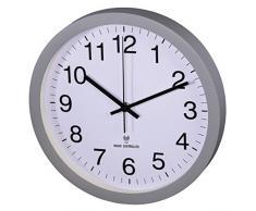 Hama 00136219 - Reloj de pared (AA, Gris, Color blanco, De plástico, Vidrio)