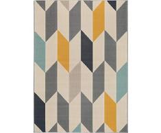 benuta Alfombra Postre Multicolor 140 x 200 cm | Moderna Alfombra para salón y Dormitorio