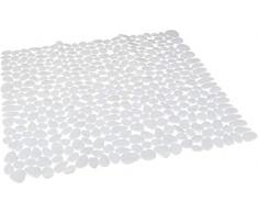Spirella 54 x 54, Blanco colección Riverstone, Alfombrilla de Ducha, PVC